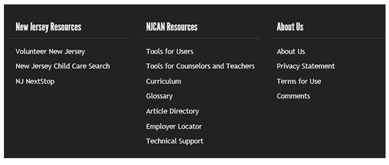 NJCAN footer resources list screenshot